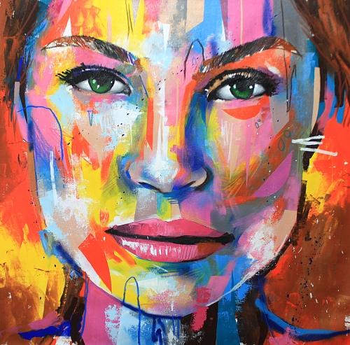 Retrato - 100x100cm