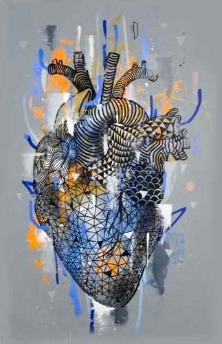 Coração - 100x150cm