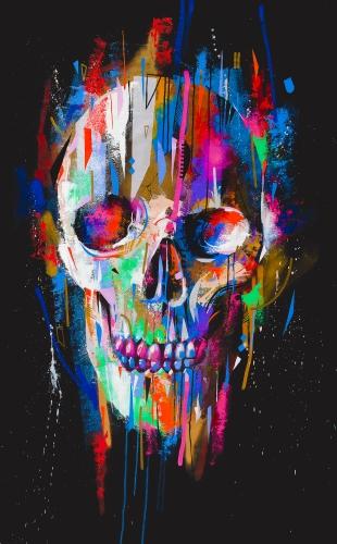 Colorfull Death - 100x150cm
